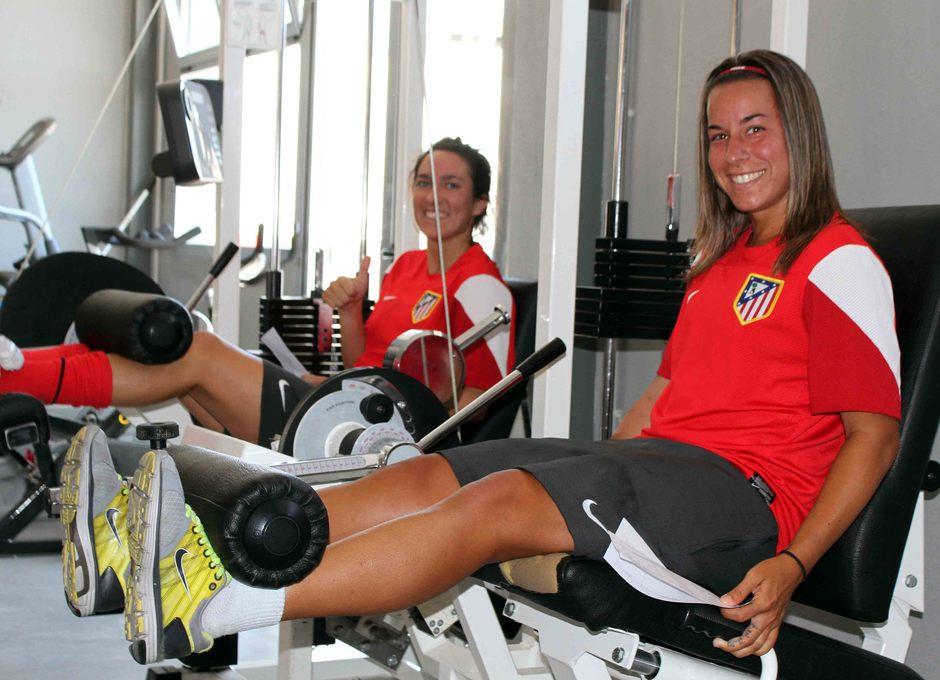 Temporada 2012-2013. Pisco y Meseguer en el gimnasio