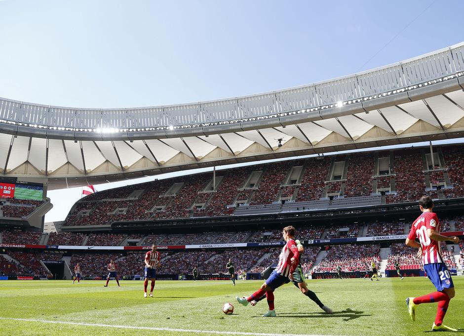 Temporada 2018/2019. Atlético de Madrid vs SD Eibar. Griezmann.