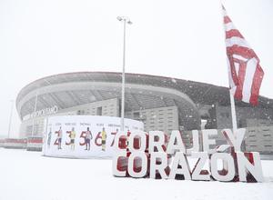 Wanda Metropolitano nevado