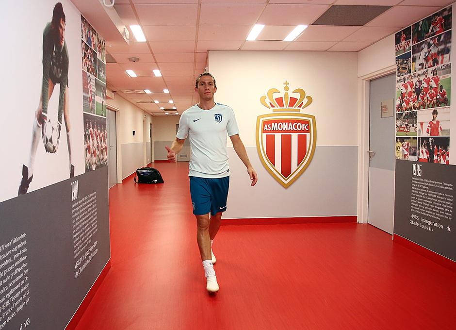 Temp. 18-19   Entrenamiento oficial Champions League en Mónaco   UCL   Filipe Luis