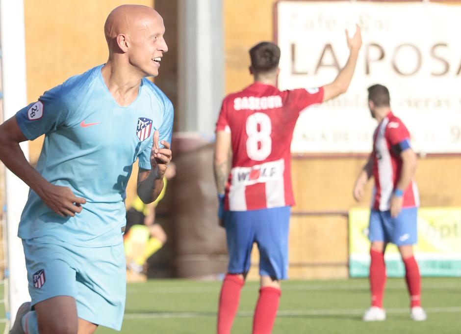 Temp. 17-18 | Navalcarnero - Atlético de Madrid B | Celebración Mollejo