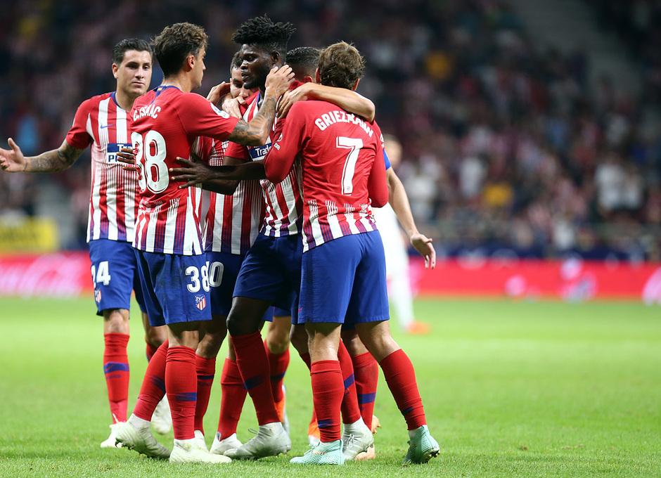 Temporada 2018-2019 | Atlético de Madrid- SD Huesca | Grupo celebración gol Thomas
