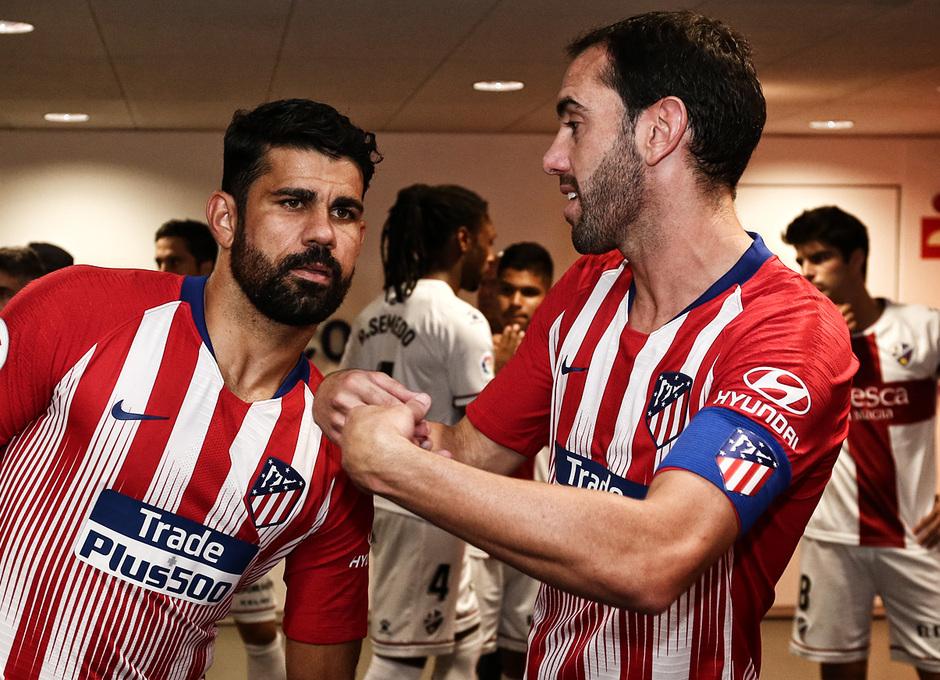 Temporada 2018-2019 | Atlético de Madrid - Huesca | La otra mirada | Diego Costa y Godín