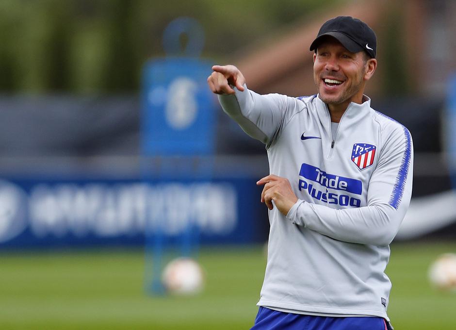 Temporada 18/19. Entrenamiento en la ciudad deportiva Wanda Atlético de Madrid. 26_09_2018. Simeone.