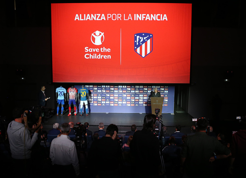 temporada 18/19. Acto Alianza por la Infancia. Save the Children. Wanda Metropolitano