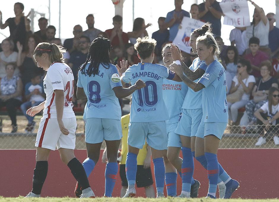 Temporada 18/19 | Liga Iberdrola | Sevilla - Atlético de Madrid | Celebración