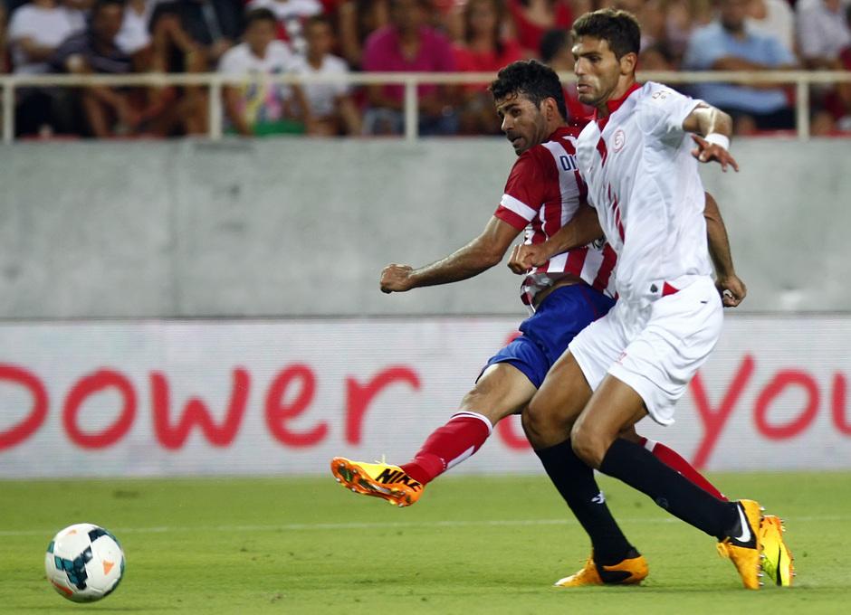 Temporada 13/14 Sevilla-Atlético de Madrid Diego Costa marcando el segundo gol