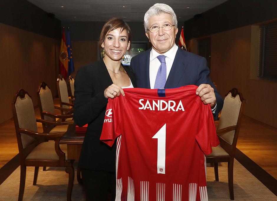 Temporada 2018-2019 | Atlético de Madrid - Real Sociedad | Palco Sandra Sánchez