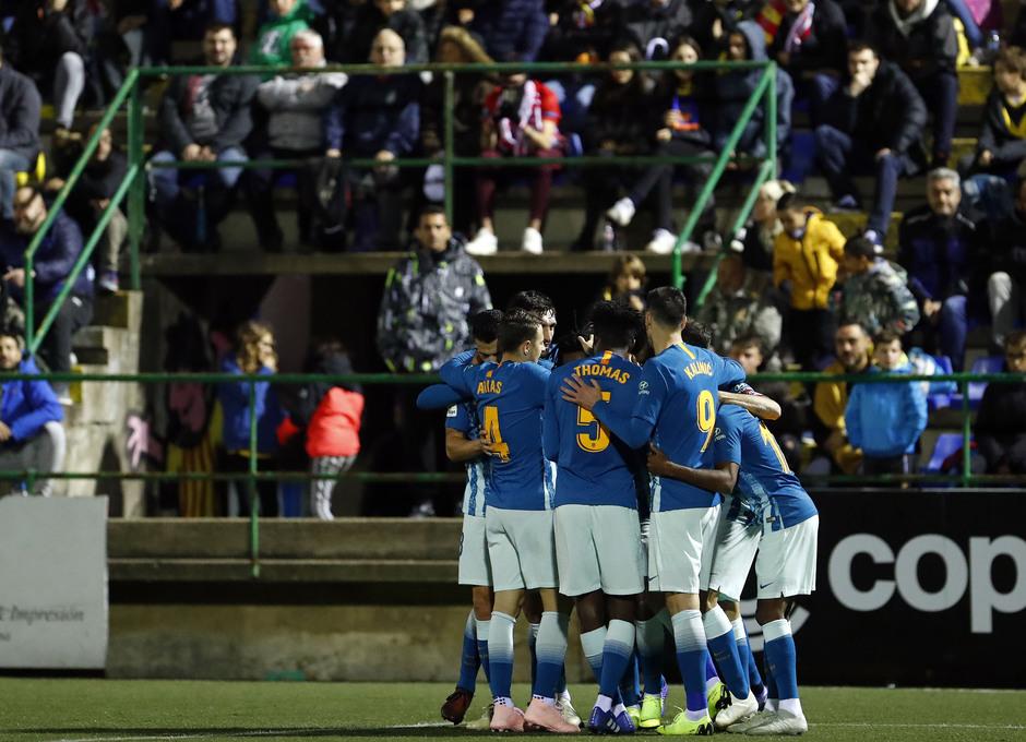 Temporada 18/19 | Sant Andreu - Atleti | Copa del Rey | Celebración gol Gelson