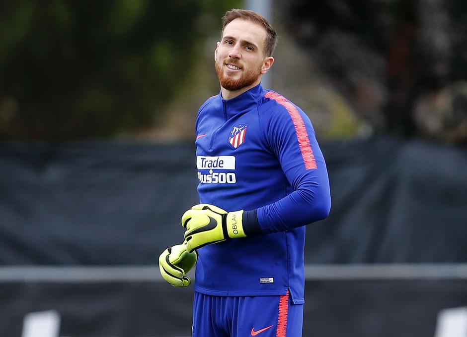 Temporada 18/19. Entrenamiento en la ciudad deportiva Wanda Atlético de Madrid. 31_10_2018. Oblak.