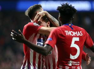 Temporada 2018-2019 | Atlético de Madrid - Dortmund | Celebración gol Griezmann