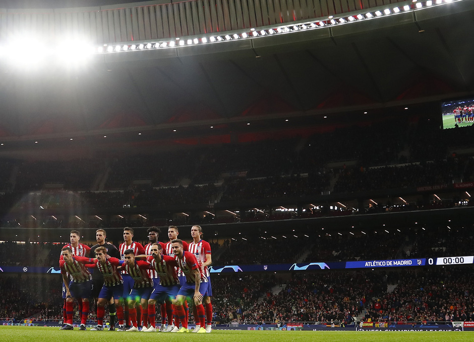 Temporada 18/19. Atlético de Madrid vs Borussia. Once