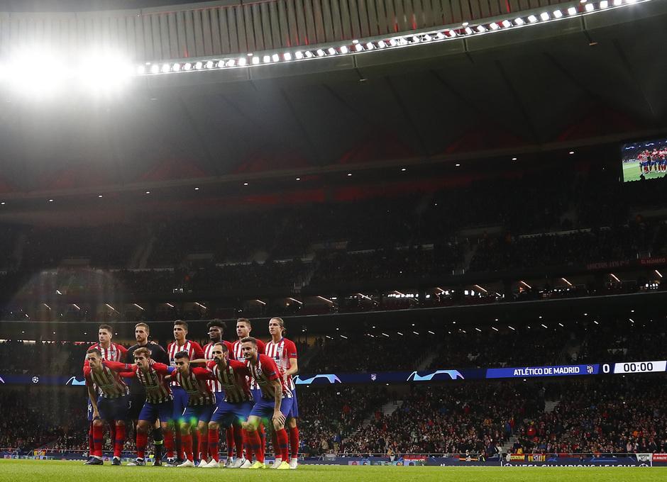 Temporada 18/19. Atlético de Madrid vs Borussia. Once