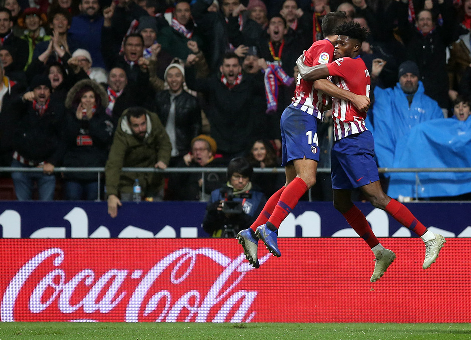 Temp. 18-19 | Atlético de Madrid - Athletic Club | Celebración gol Rodrigo con Thomas