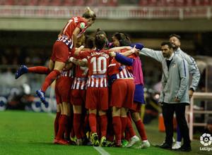 Temporada 2018-2019 | FC Barcelona - Atlético de Madrid Femenino | Celebración gol Kenti
