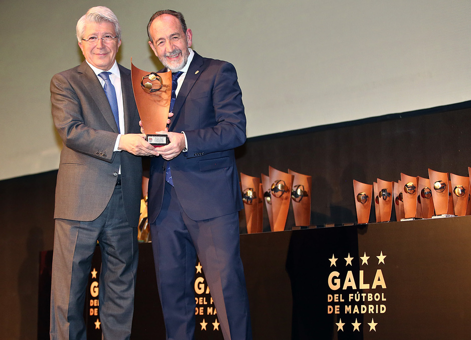 Temporada 18/19. Gala federación futbol de Madrid. Cerezo