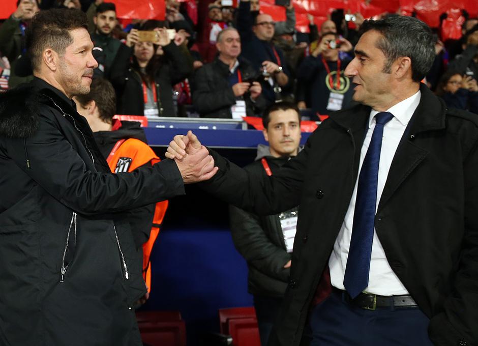 Temporada 2018-2019 | Atlético de Madrid - FC Barcelona | Simeone y Valverde