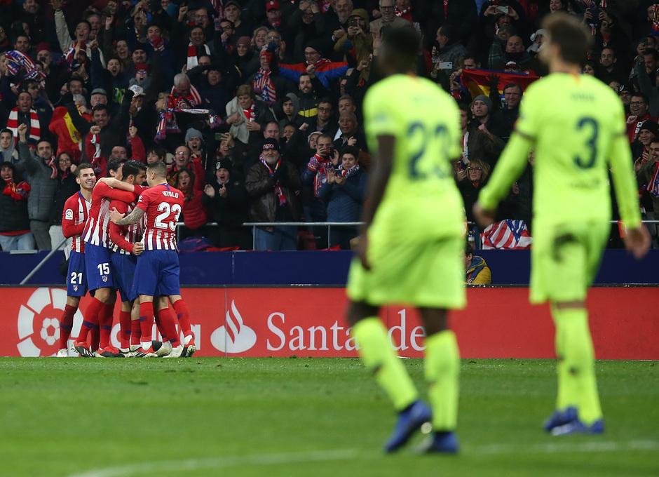 Temporada 2018-2019 | Atlético de Madrid - FC Barcelona | celebración Gol Costa