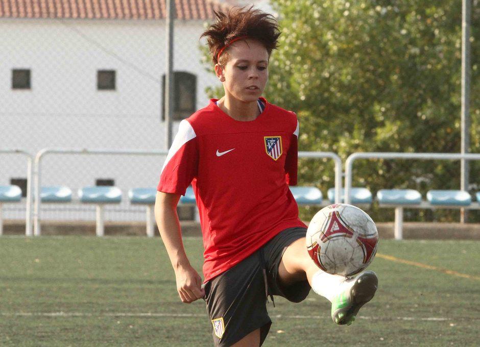Temporada 2013-2014. Amanda durante el entrenamiento en Pozoblanco