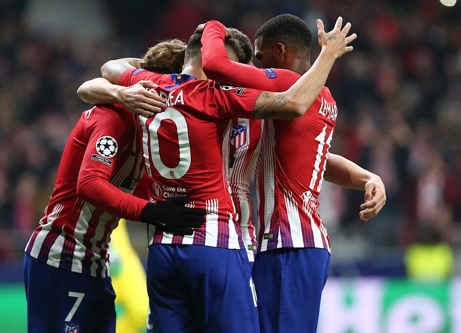 Temporada 18/19 | Atlético de Madrid - Mónaco | celebración gol Griezmann