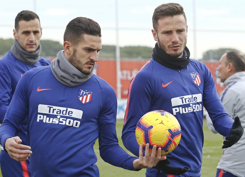 Temporada 2018-2019 | Entrenamiento Ciudad Deportiva Wanda | Koke y Saúl