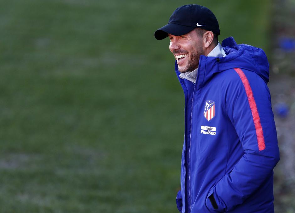 Temporada 18/19. Entrenamiento en la ciudad deportiva Wanda Atlético de Madrid. 04_12_2018. Simeone.