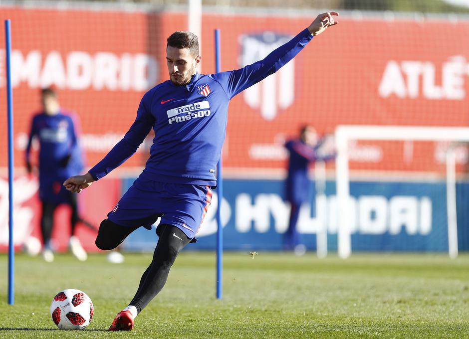 Temporada 18/19. Entrenamiento en la ciudad deportiva Wanda Atlético de Madrid. 04_12_2018. Koke.