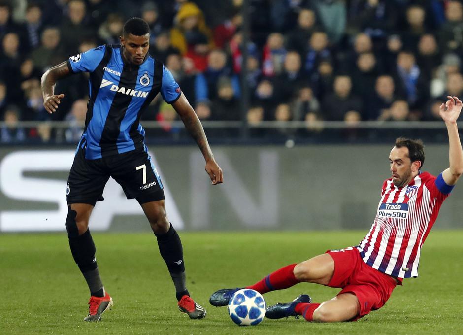 Temporada 18/19 | Brujas - Atlético de Madrid | Godín