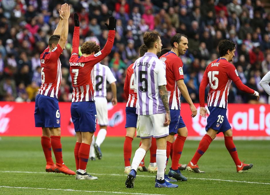 Temporada 18/19 | Valladolid - Atlético de Madrid | celebración grupo