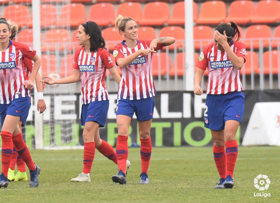 Temp. 18-19   Atlético de Madrid Femenino - Sporting de Huelva   Celebración