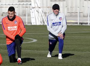 Temp. 18-19 | Entrenamiento Ciudad Deportiva Wanda | Simeone y Vitolo