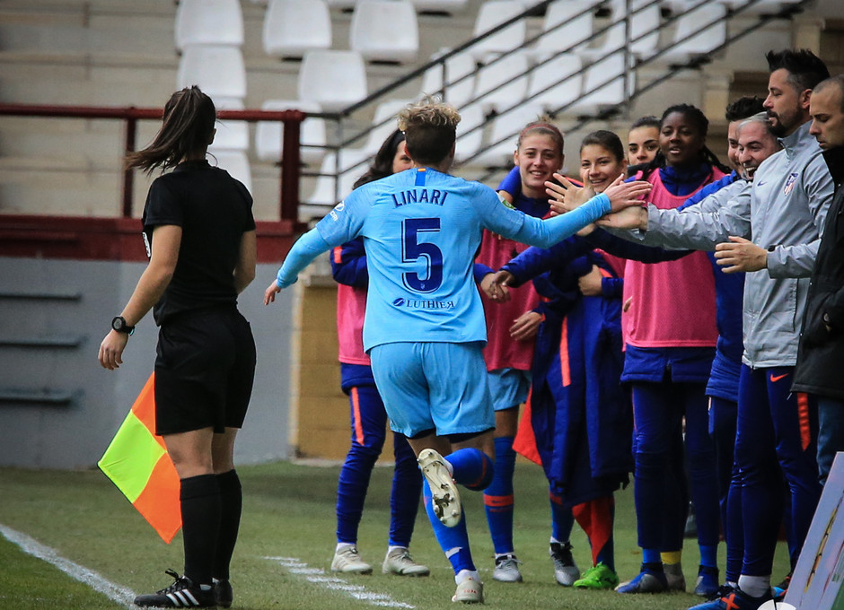 Temp. 18-19 | EDF Logroño - Atlético de Madrid Femenino | Linari
