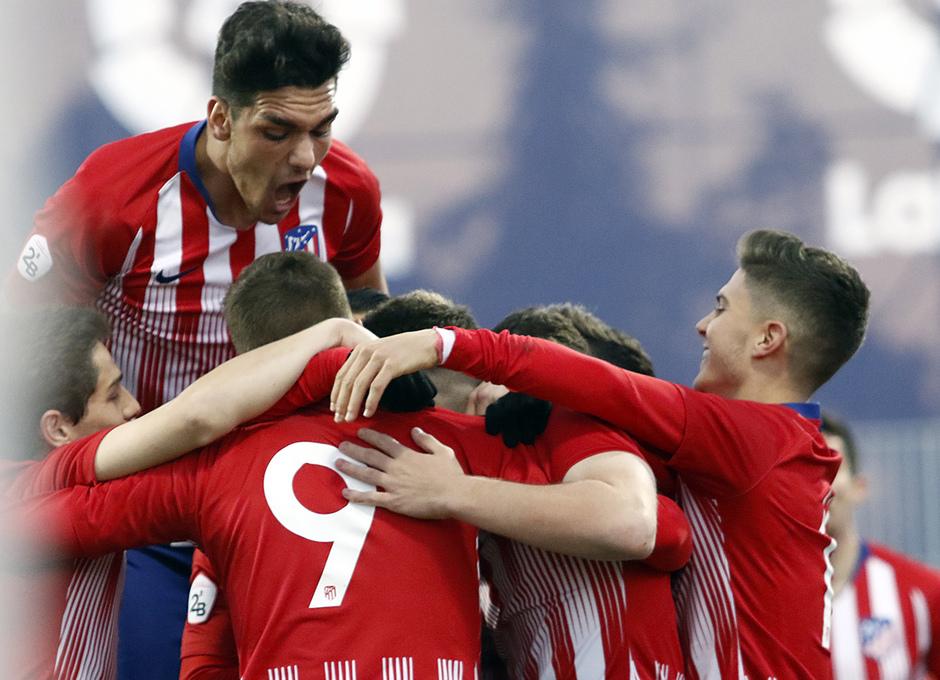 Temp. 18-19   Atlético de Madrid B - Unión Adarve   Celebración