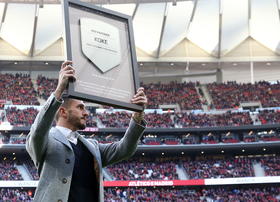 Temporada 18/19   Atlético de Madrid - Getafe   Koke 400 partidos