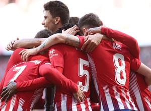 Temporada 18/19   Atlético de Madrid - Getafe   piña celebración