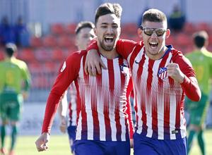 Temporada 18/19 | Atlético B - Unionistas | Celebración Darío y Montero