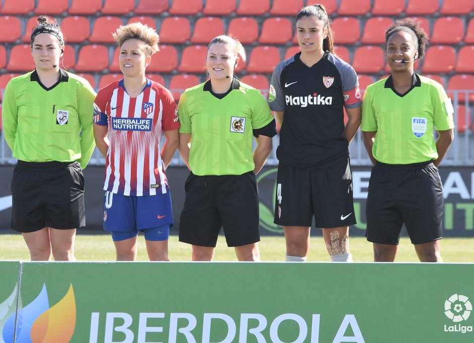 Temp 2018-2019   Atlético de Madrid Femenino - Sevilla   Capitanas