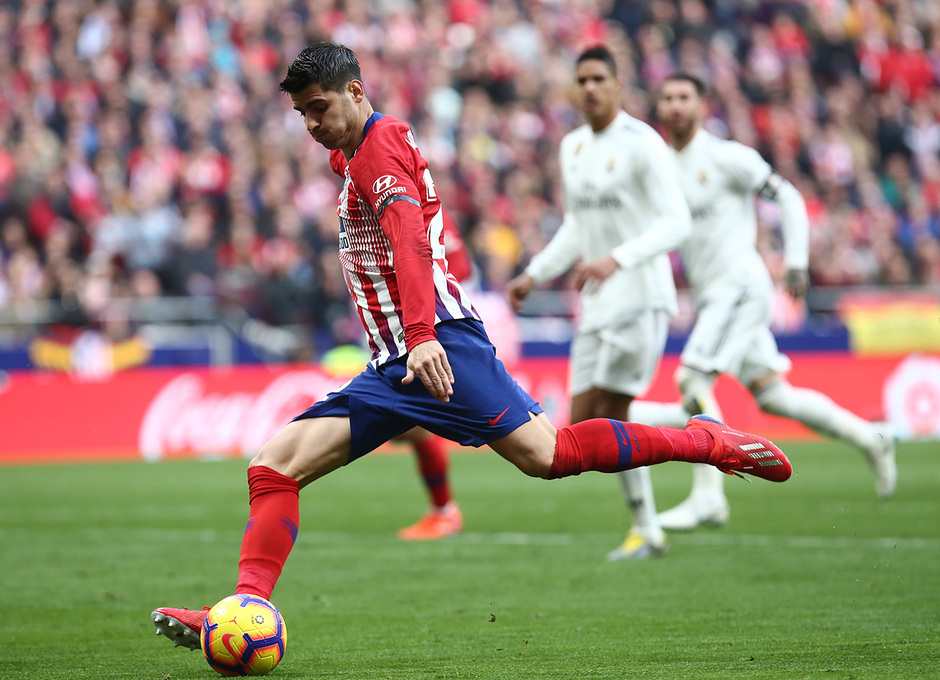 Temporada 18/19 | Atlético de Madrid - Real Madrid | Morata