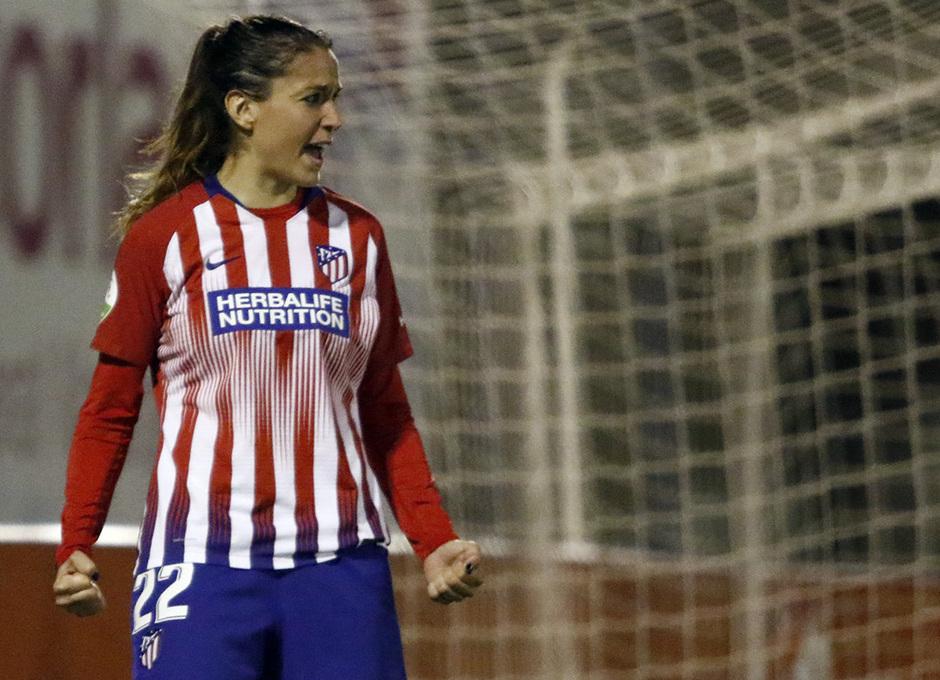 Temporada 18/19   Madrid CFF - Atlético de Madrid Femenino   Olga celebración