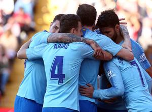 Temporada 18/19 | Rayo Vallecano - Atlético de Madrid | Piña celebración