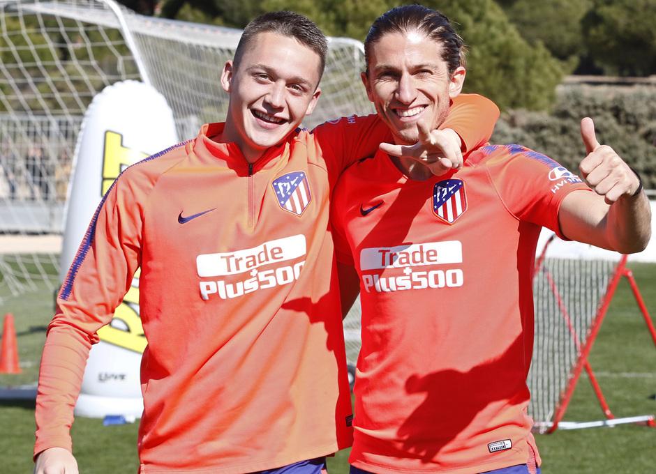 Temporada 18/19   Entrenamiento del primer equipo   01/03/2019   Borja y Filipe