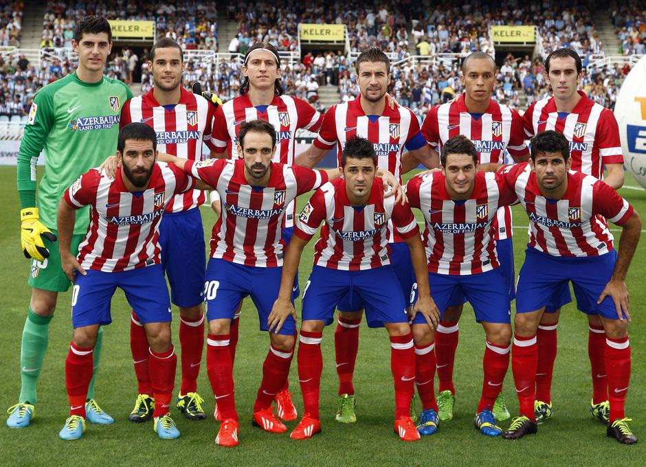 Temporada 2013/2014 Real Sociedad - Atlético de Madrid Once inicial en Anoeta