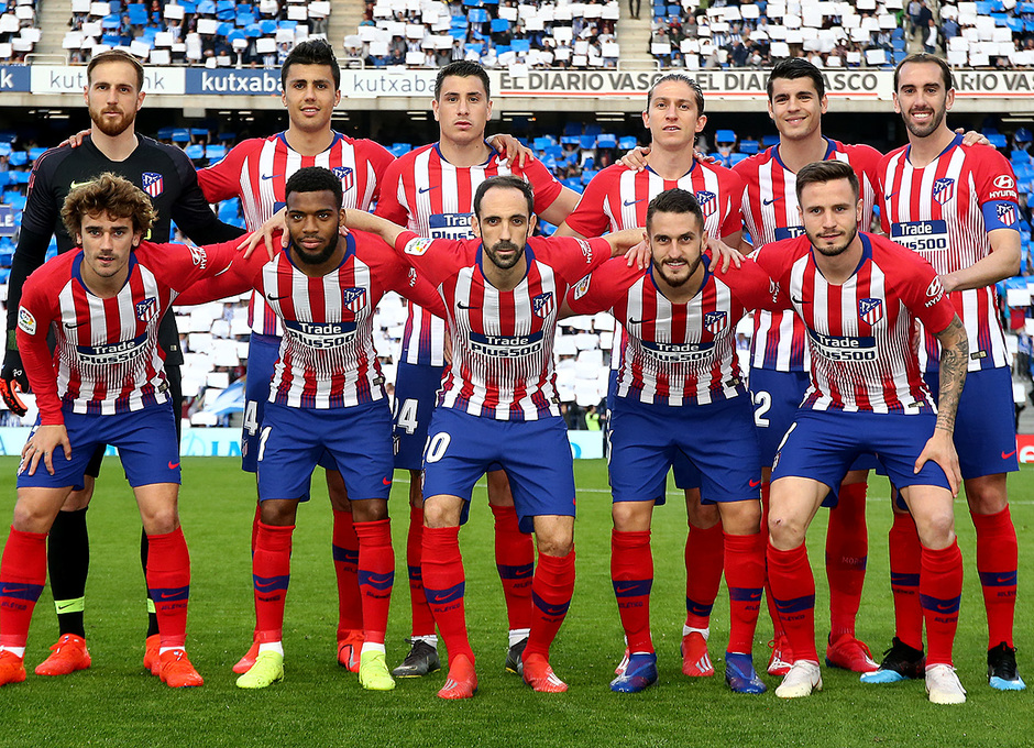 Temporada 18/19   Real Sociedad - Atlético de Madrid   Once