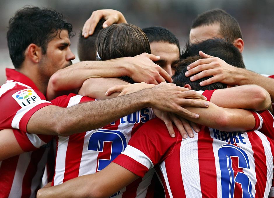 Temporada 2013/2014 Real Sociedad - Atlético de Madrid Los jugadores festejando uno de los tantos ante la Real