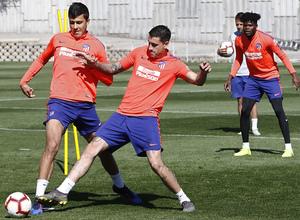 Temporada 18/19 | Entrenamiento del primer equipo |  14/03/2019 | Rodrigo y Giménez