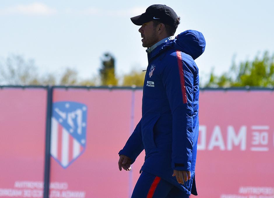 Temporada 18/19. Entrenamiento en la ciudad deportiva Wanda. Simeone