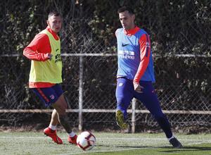 Temporada 18/19. Entrenamiento en la ciudad deportiva Wanda Atlético de Madrid. 22_03_2019. Kalinic.