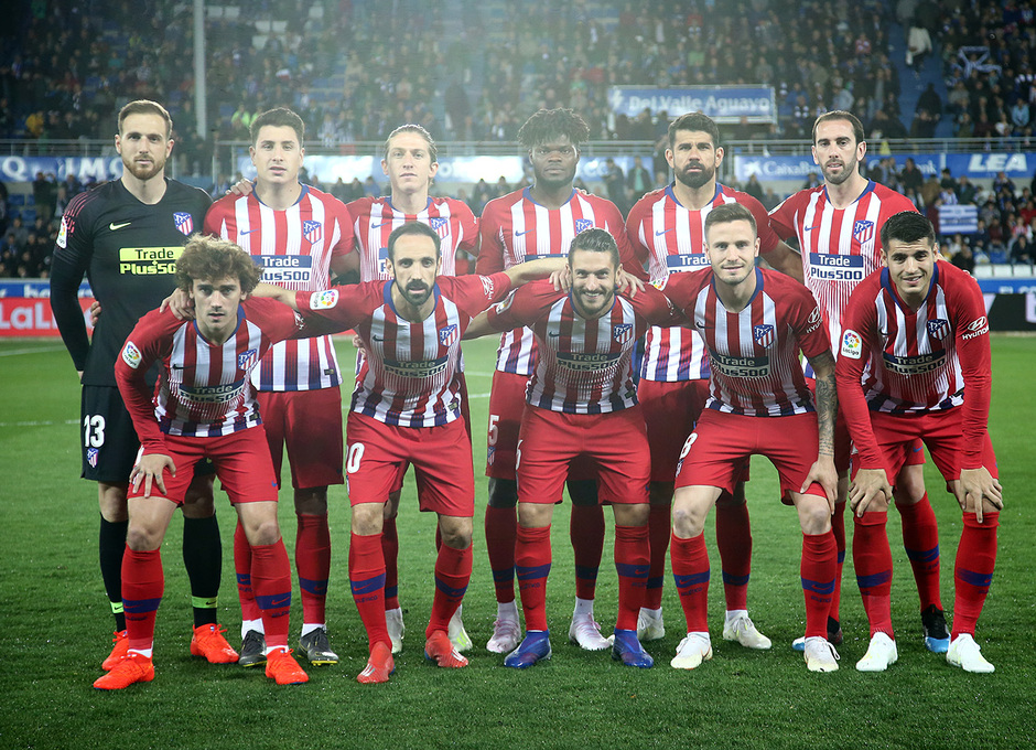 Temporada 18/19 | Alavés - Atlético de Madrid | Once
