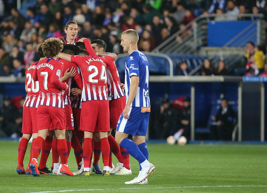 Temporada 18/19 | Alavés - Atlético de Madrid | Celebración