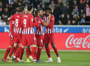 Temporada 18/19   Alavés - Atlético de Madrid   Thomas celebración